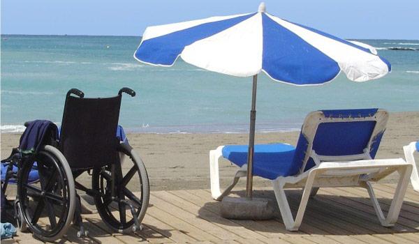 Strand rolstoel
